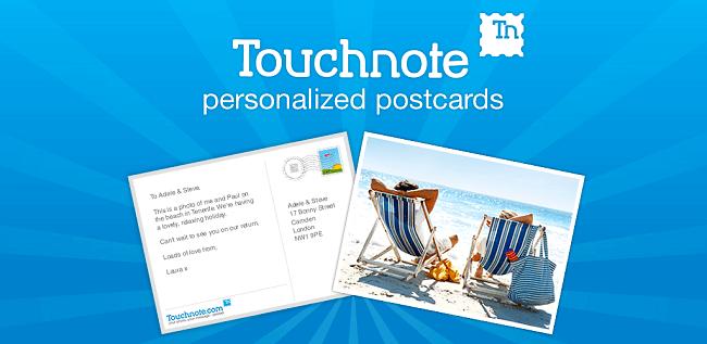 تطبيق Touchnote Cards