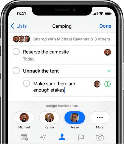 تطبيق Apple Reminders 3