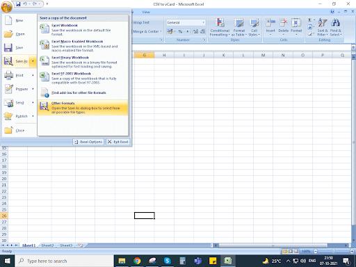 من Excel إلى vCard 1