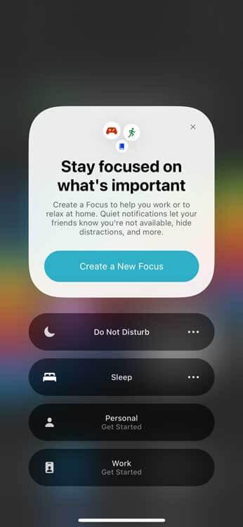 وضع التركيز Focus Mode